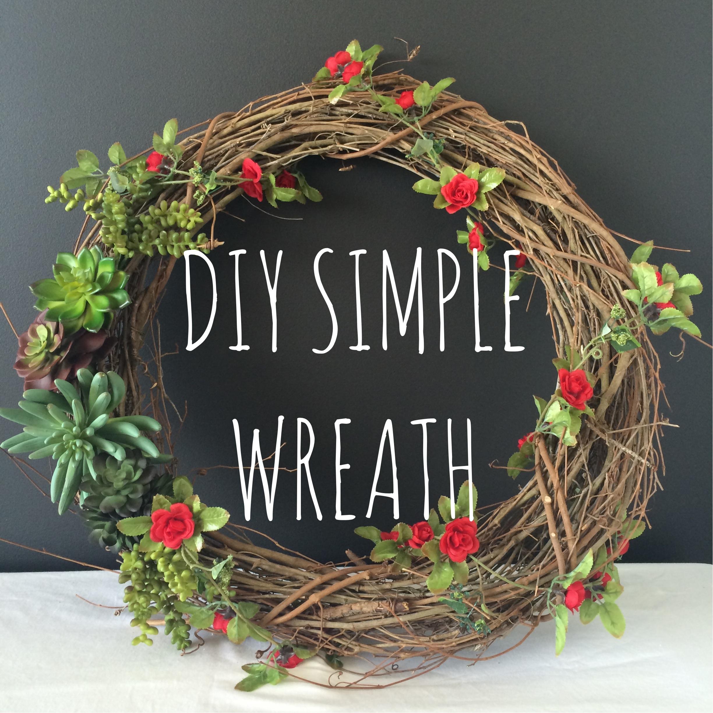 DIY Simple Wreath | Mrs Amber Apple blog