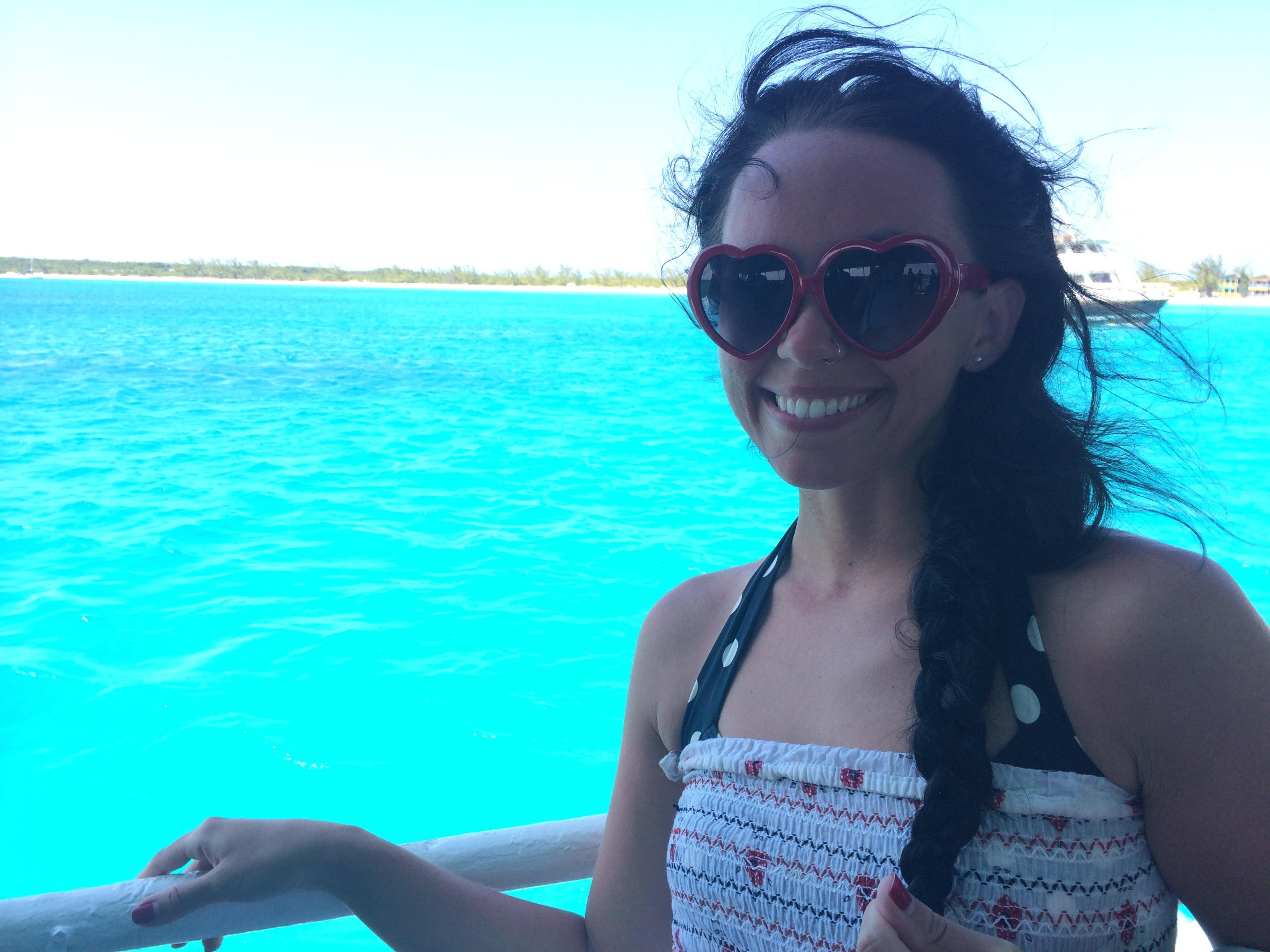 Leaving Half Moon Cay | Mrs Amber Apple blog