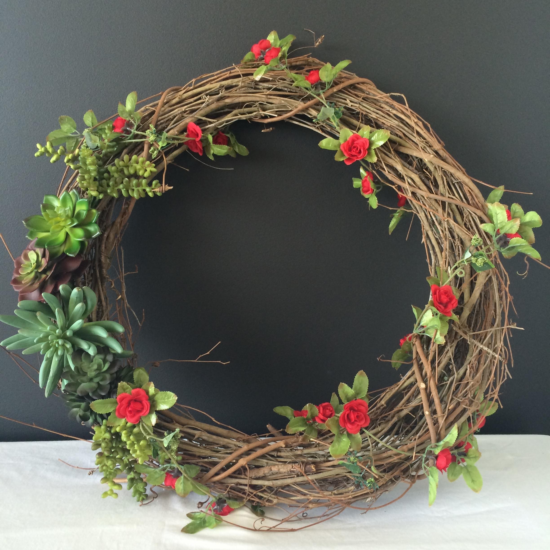 Succulent Wreath DIY | Mrs Amber Apple blog