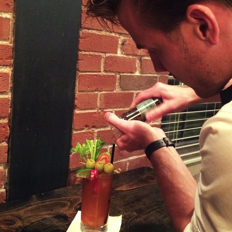 Stephen Making a Bloody Mary