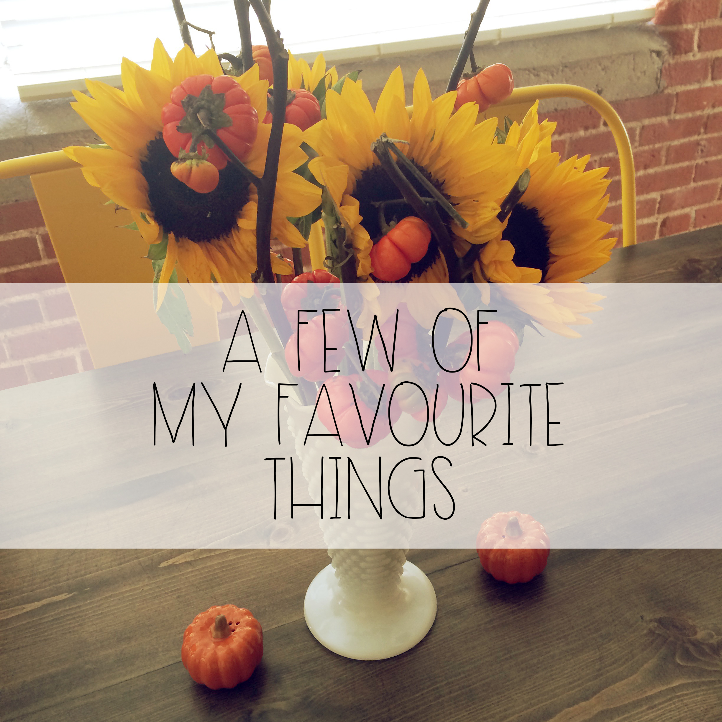 A Few Of My Favourite Things | Red Autumn Co