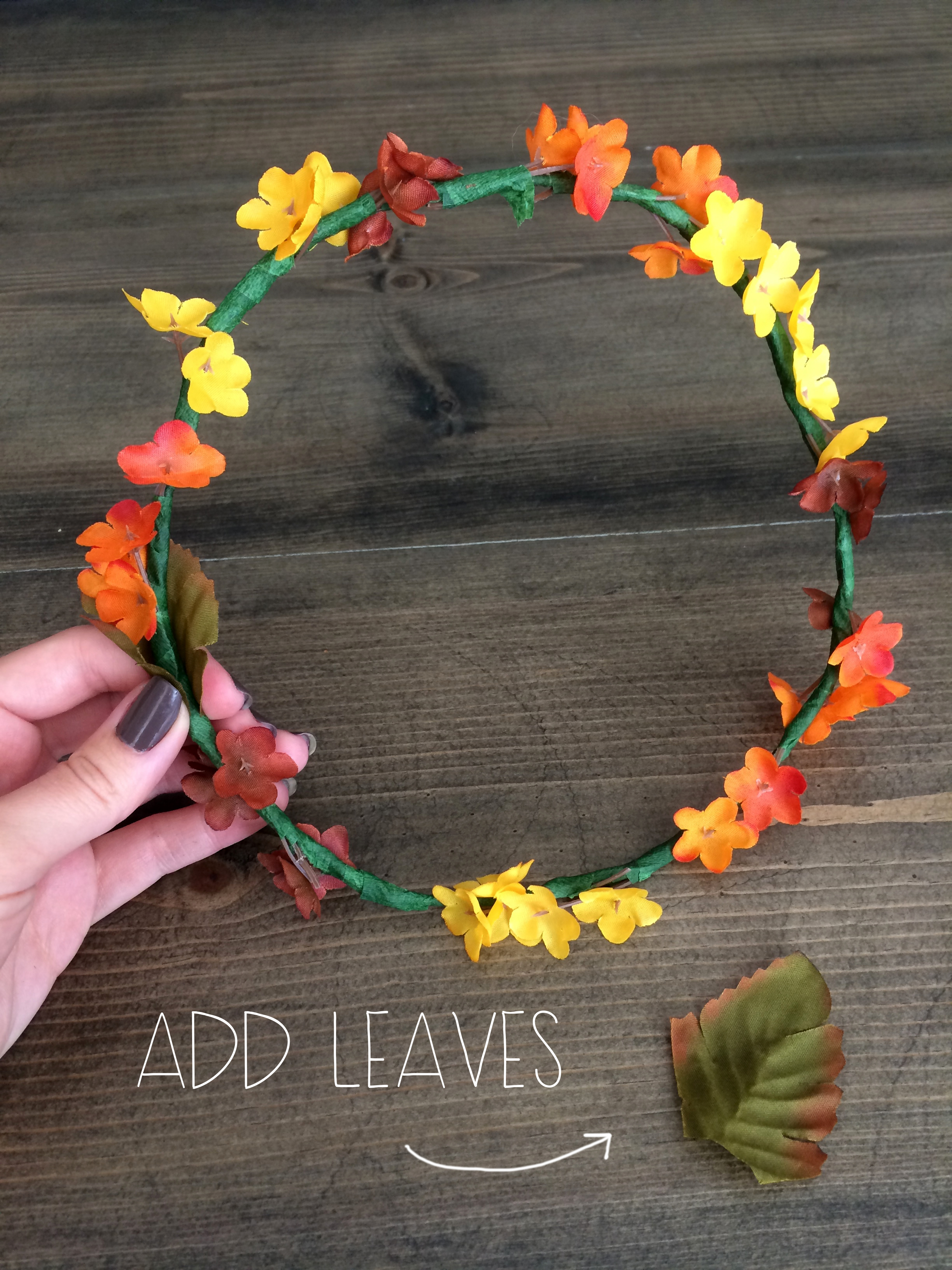 Add Leaves - Autumn Flower Crown | Red Autumn Co