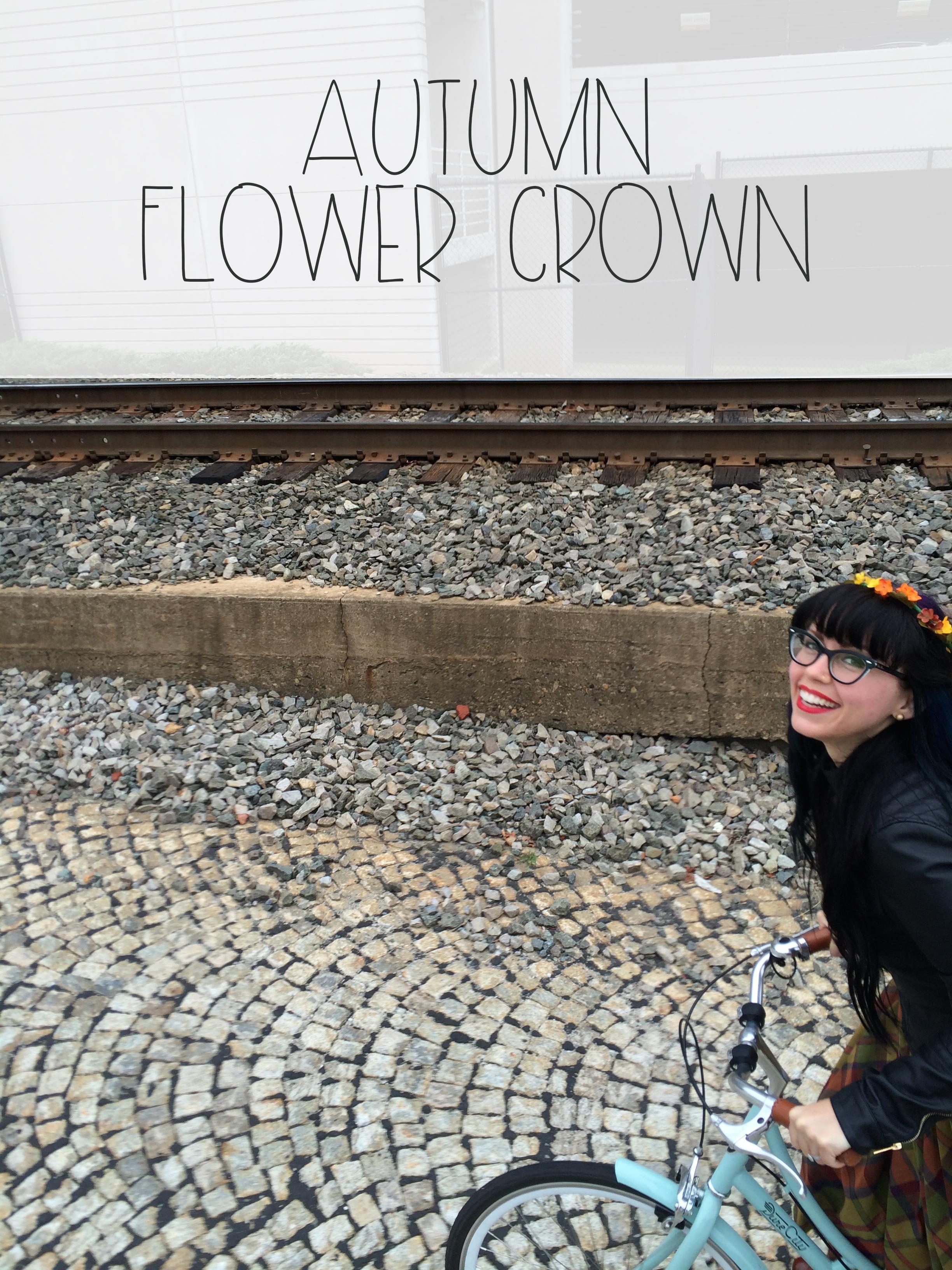 Autumn Flower Crown | Red Autumn Co