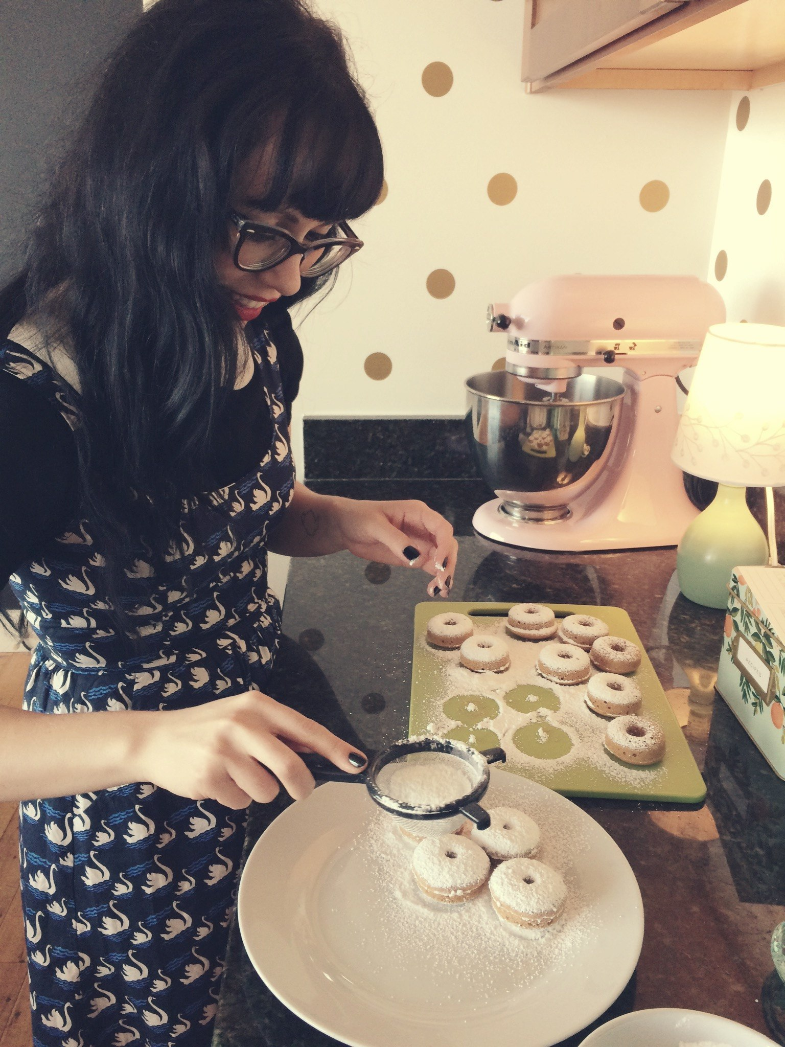 Baking Mini Donuts | Red Autumn Co