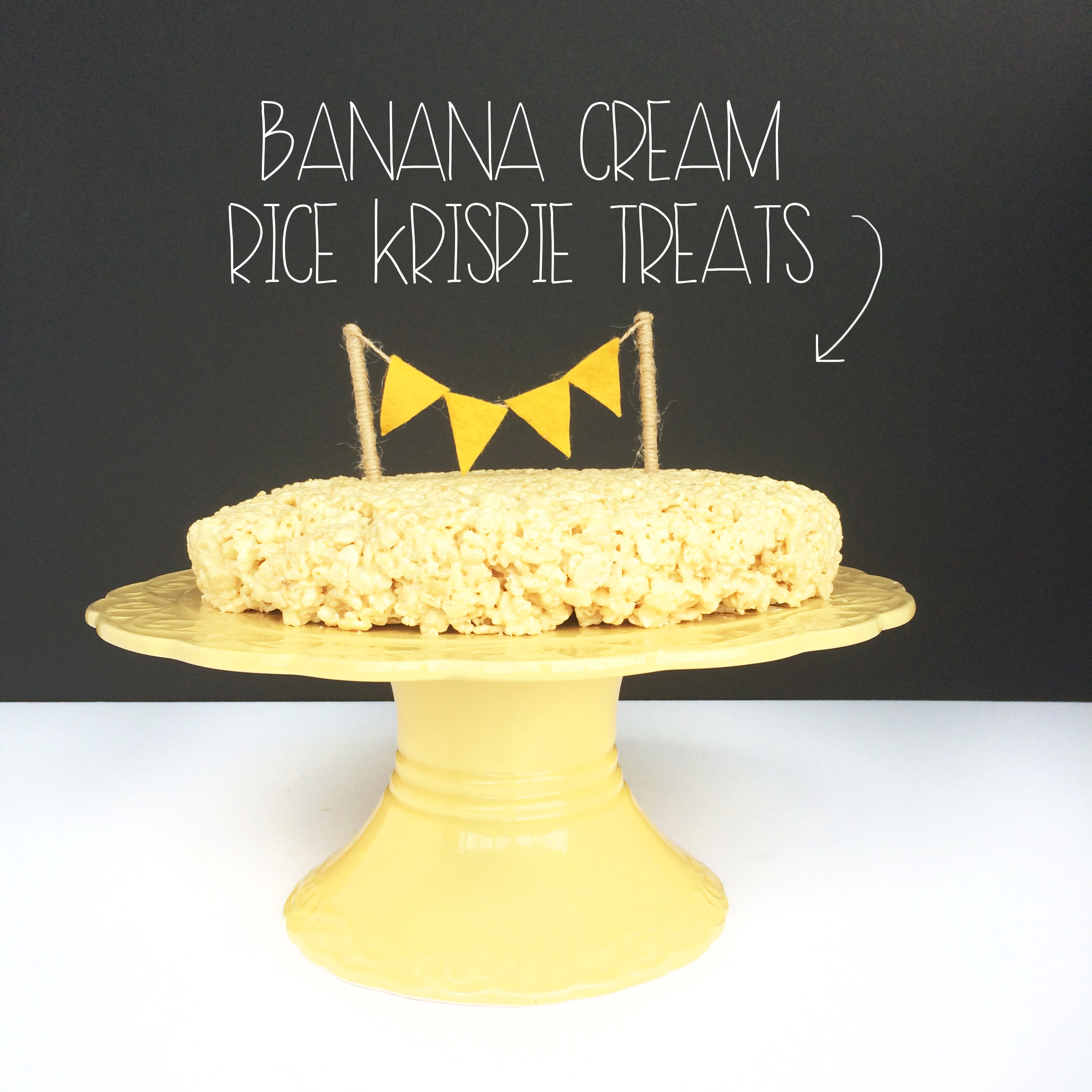 Banana Cream Rice Krispie Treats | MrsAmberAppleBlog