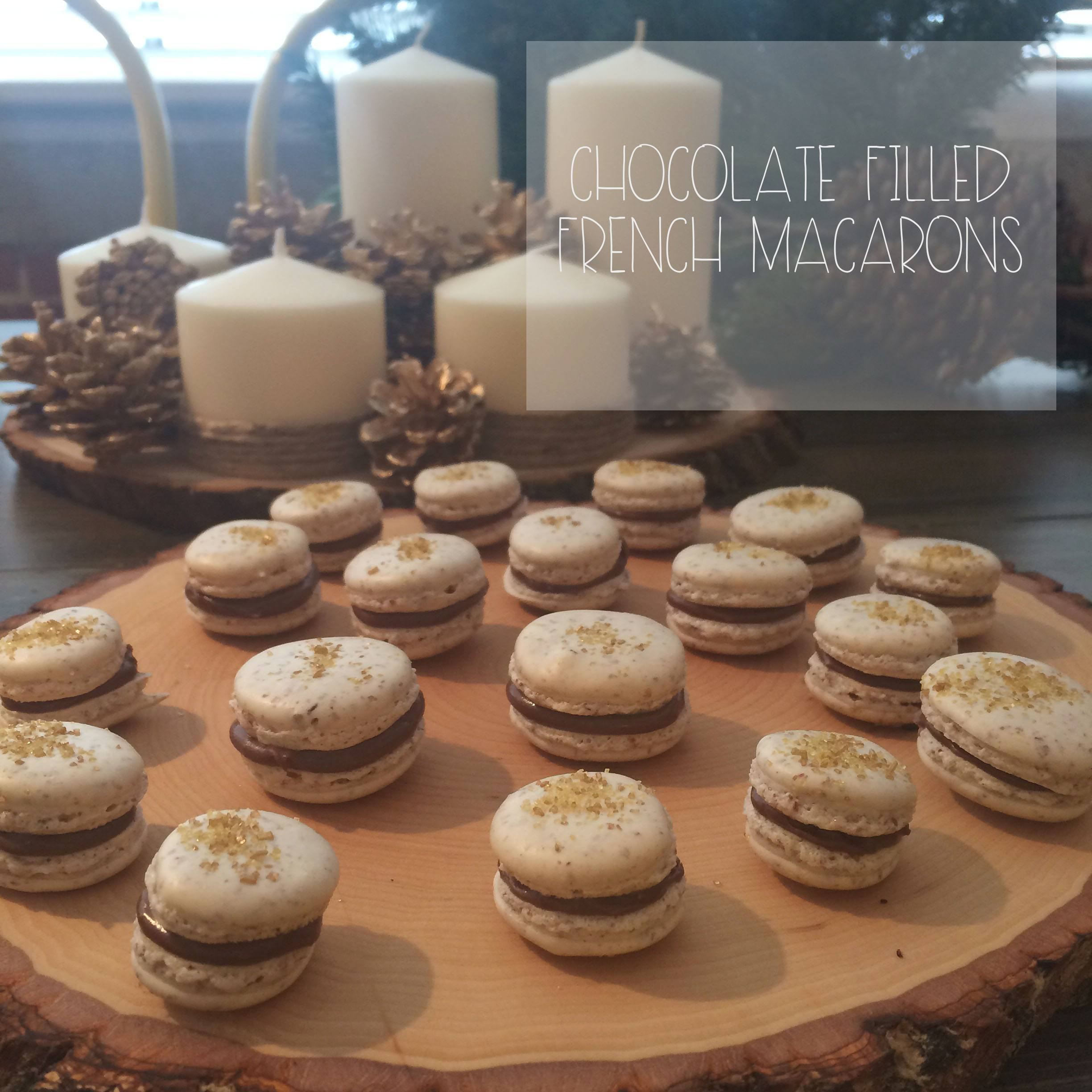 Chocolate Filling French Macarons | Red Autumn Co