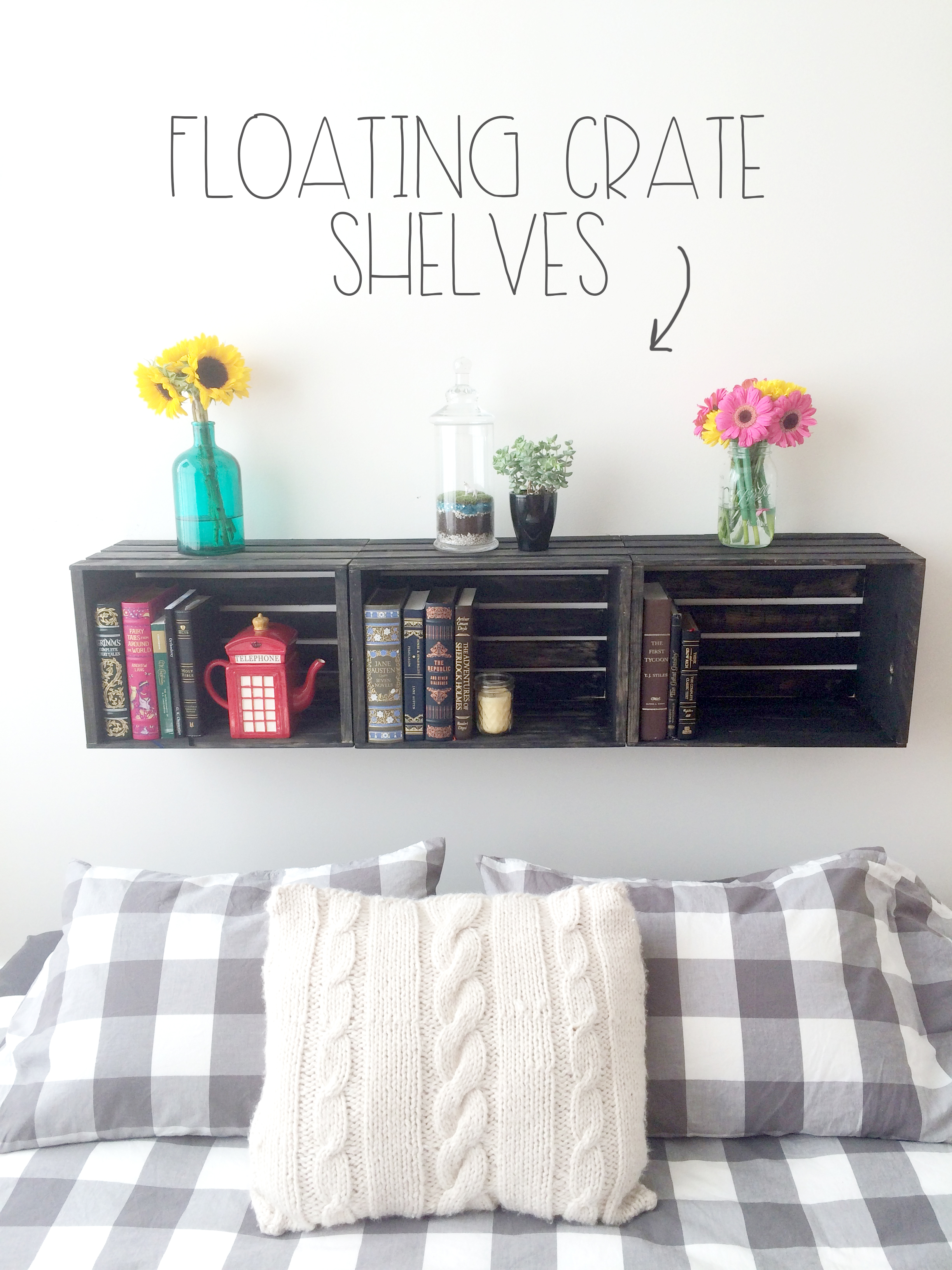 Floating Crate Shelves -Featured | Red Autumn blog