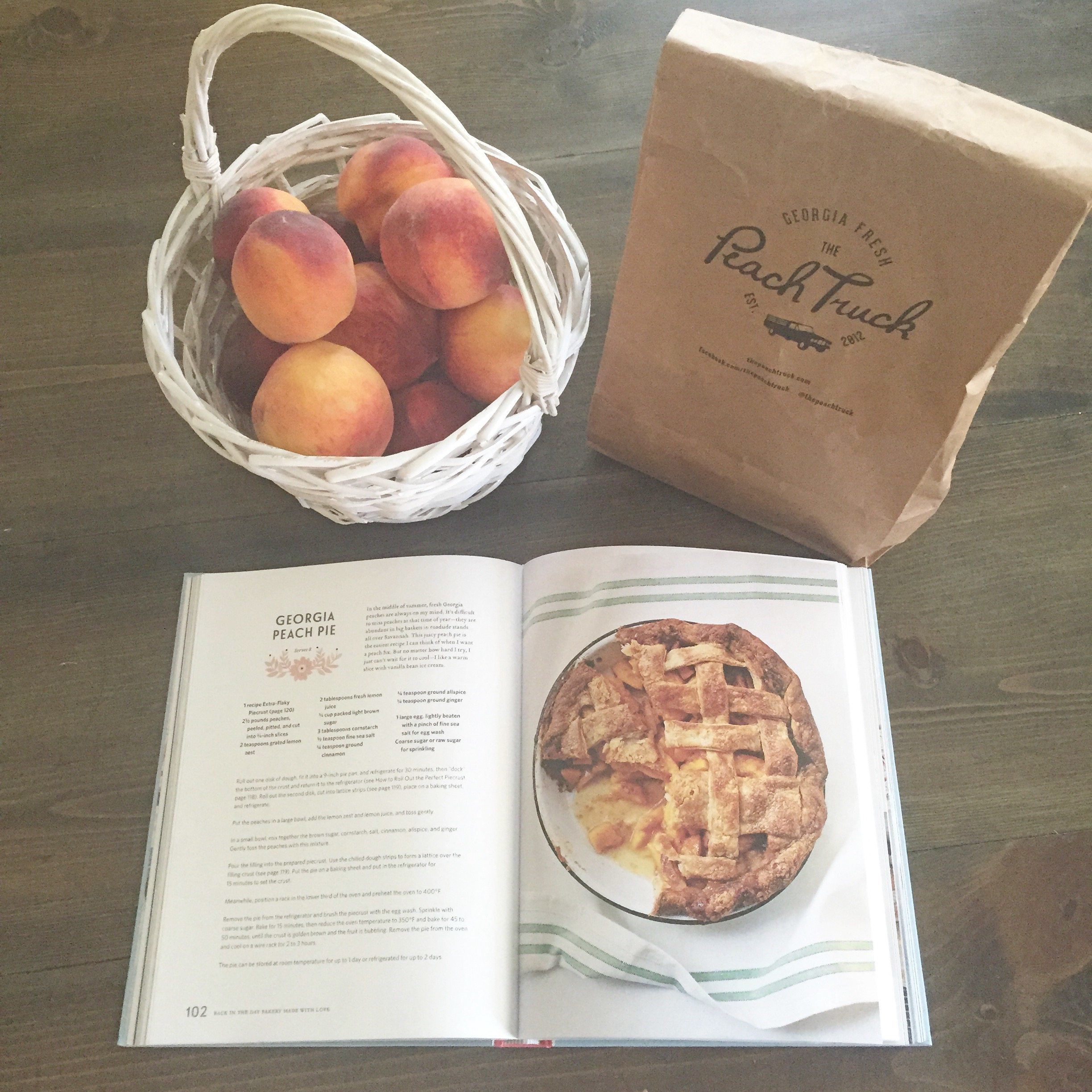 Baking a Georgia Peach Pie