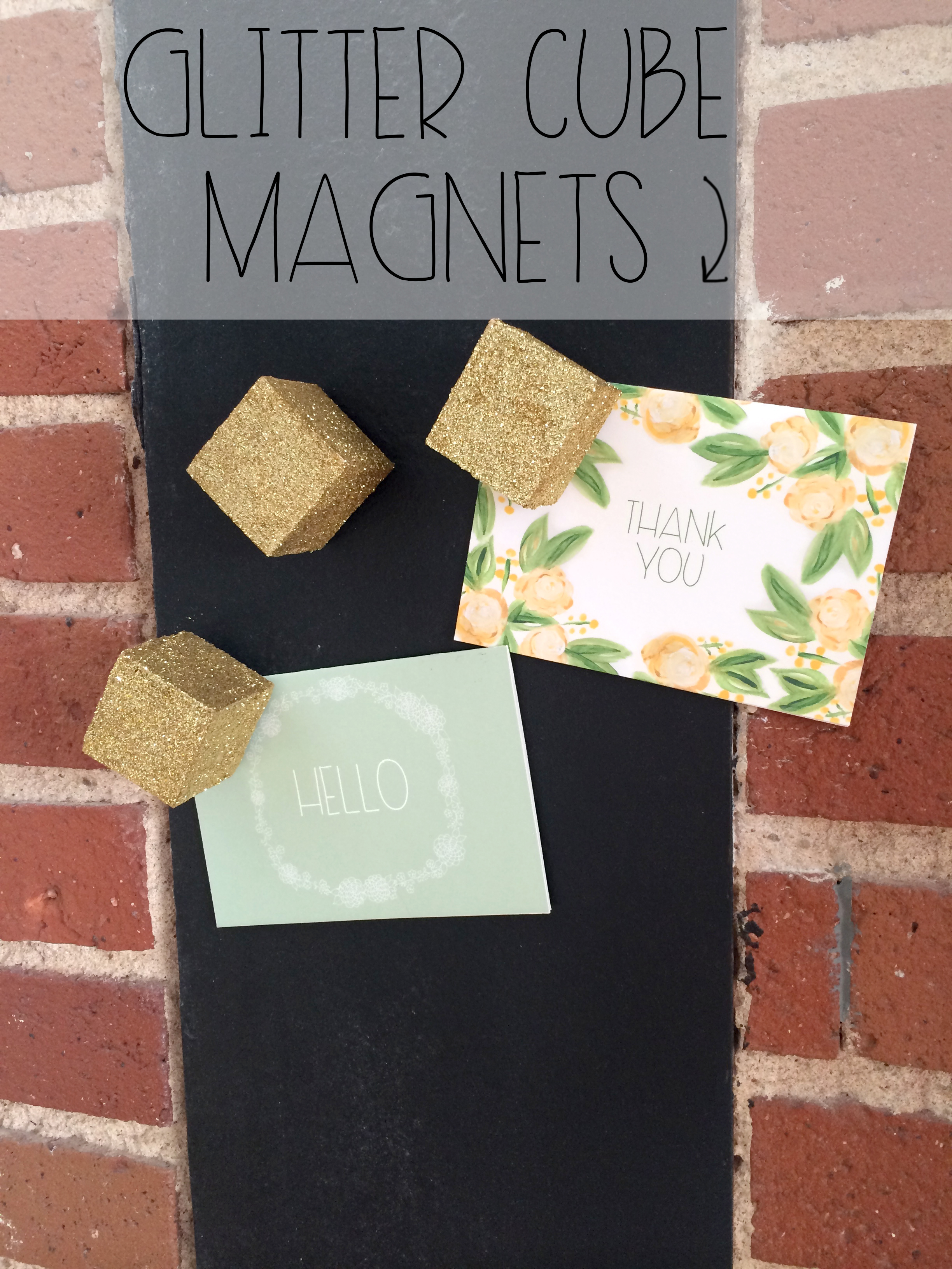 Glitter Gold Cube Magnets | Red Autumn Co
