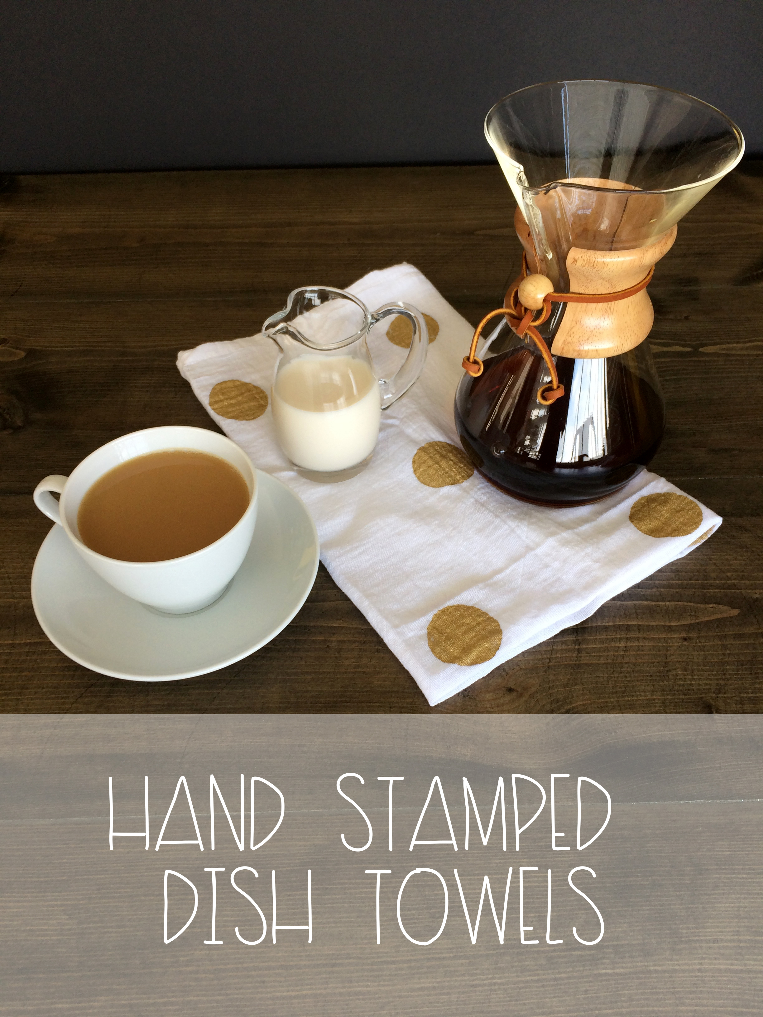 Hand Stamped Dish Towels | Red Autumn Co