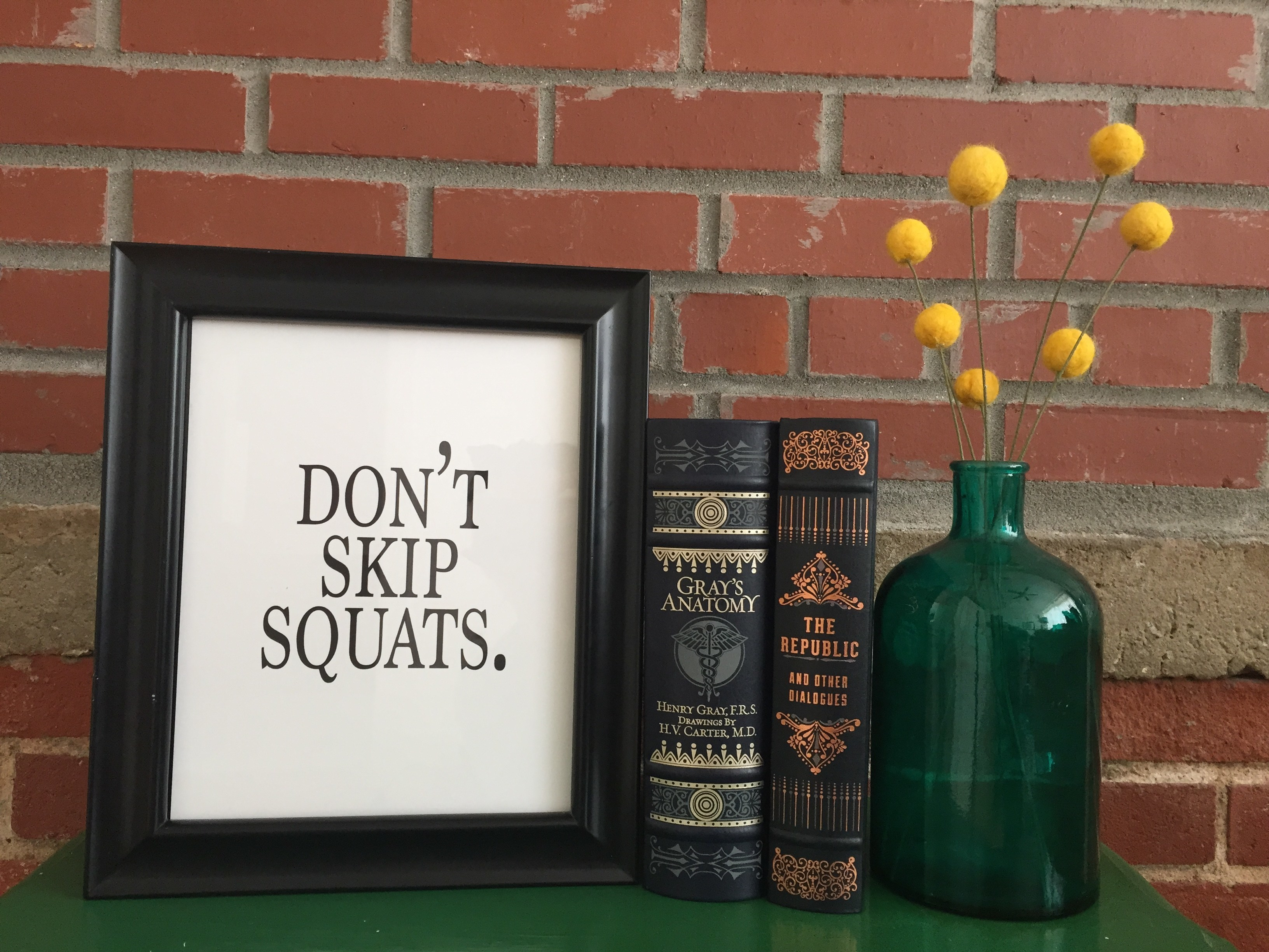 Don't Skip Squats #Print | Red Autumn Co.