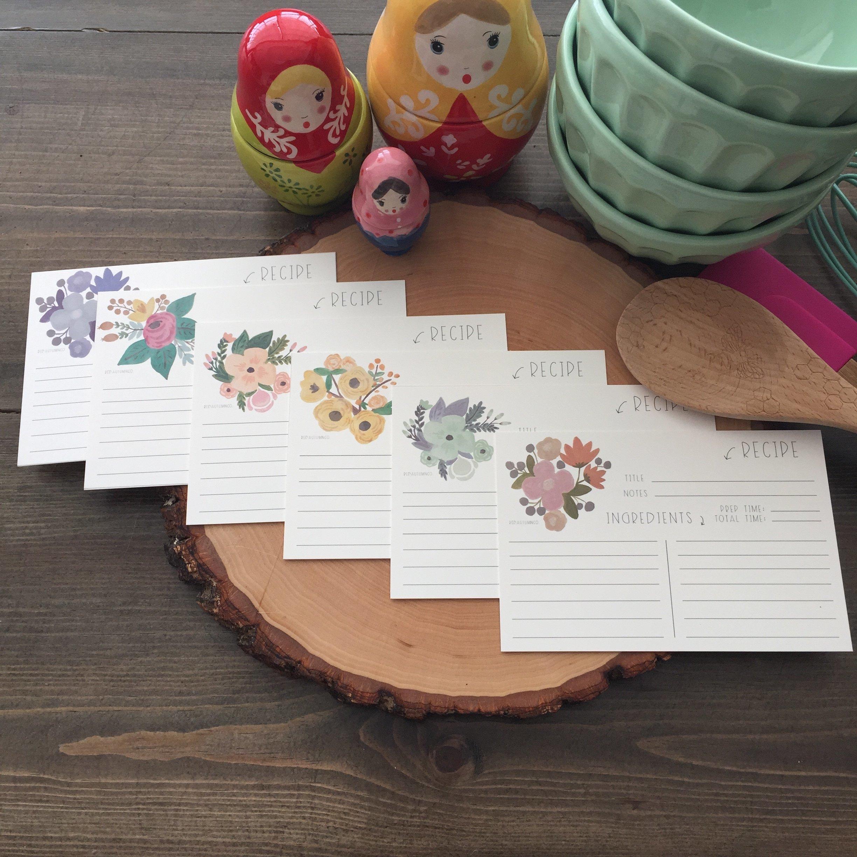 Fleur Bouquet Assortment Recipe Cards | Red Autumn Co.