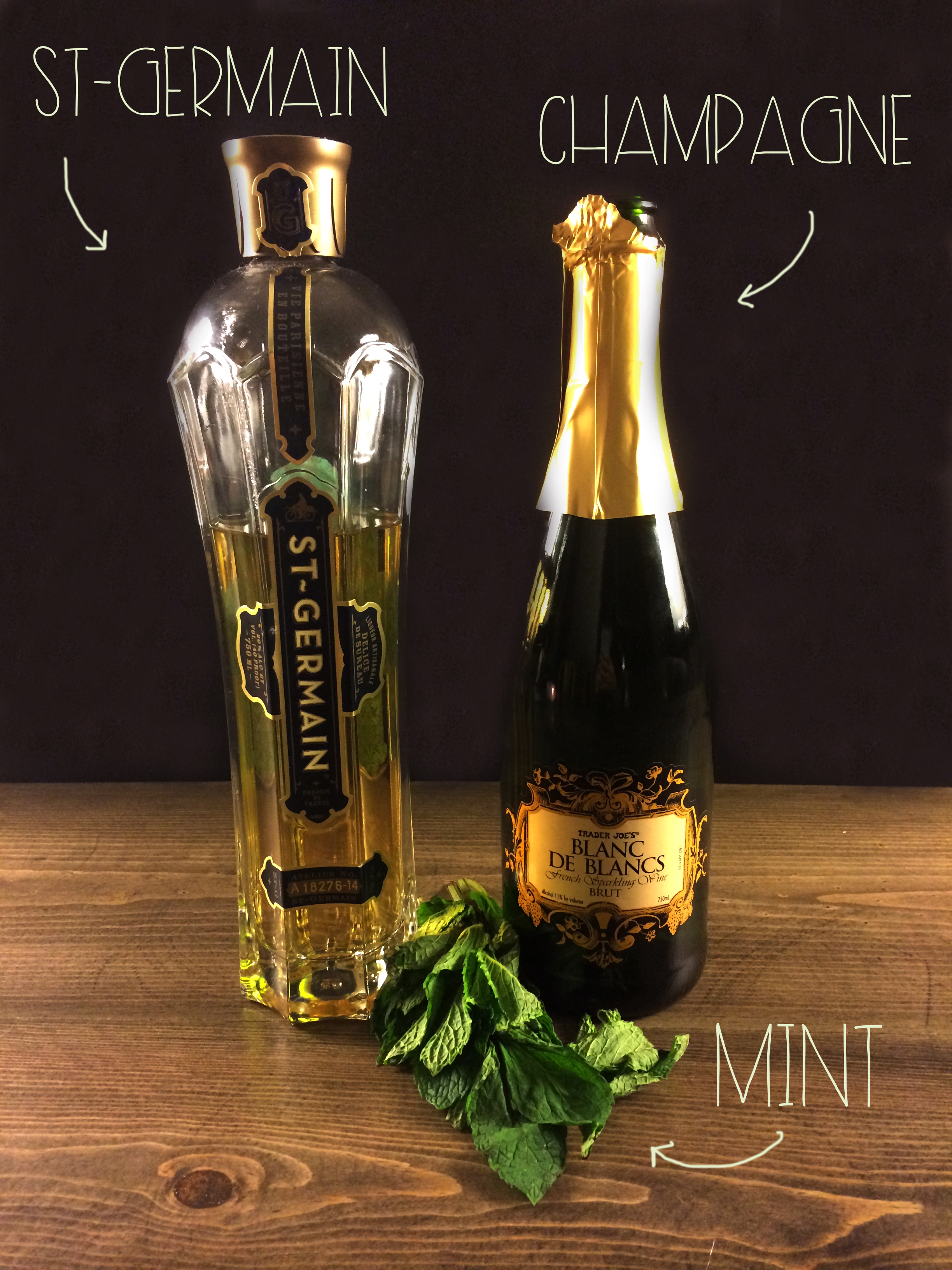 Ingredients for Gigi's Champagne | Red Autumn Co