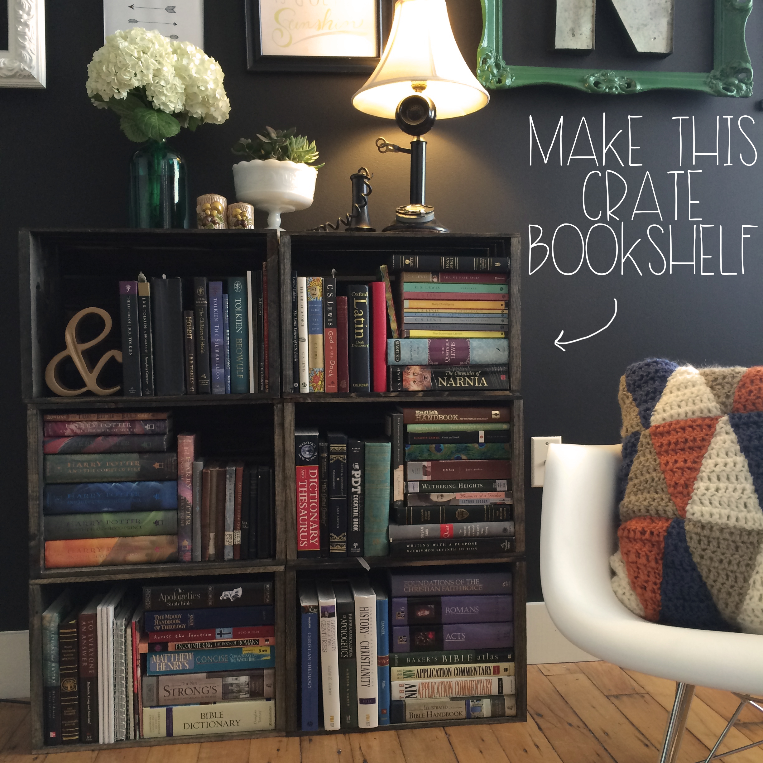 Make This Crate Bookshelf | MrsAmberApple