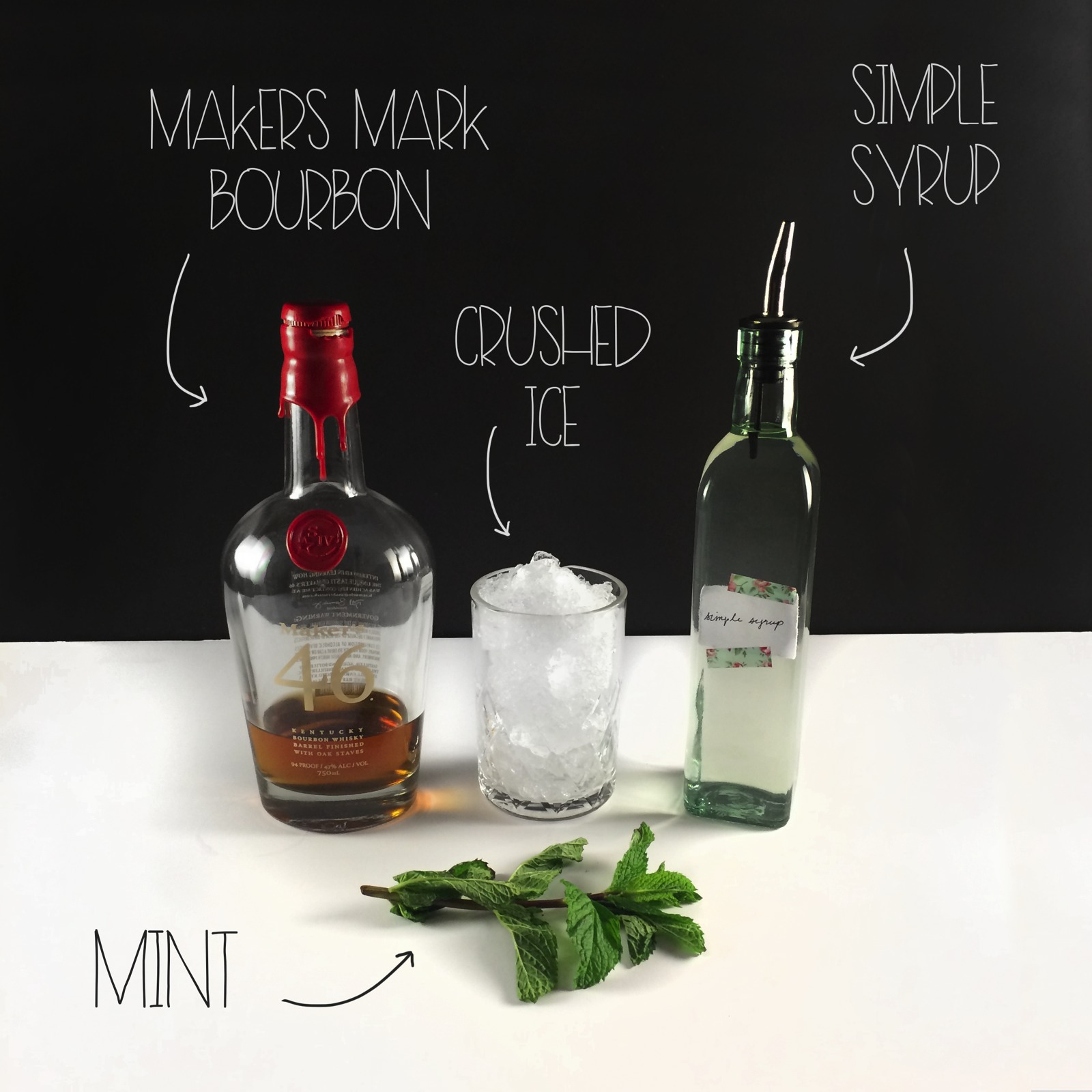 Mint Julep - Ingredients - Mrs Amber Apple Blog