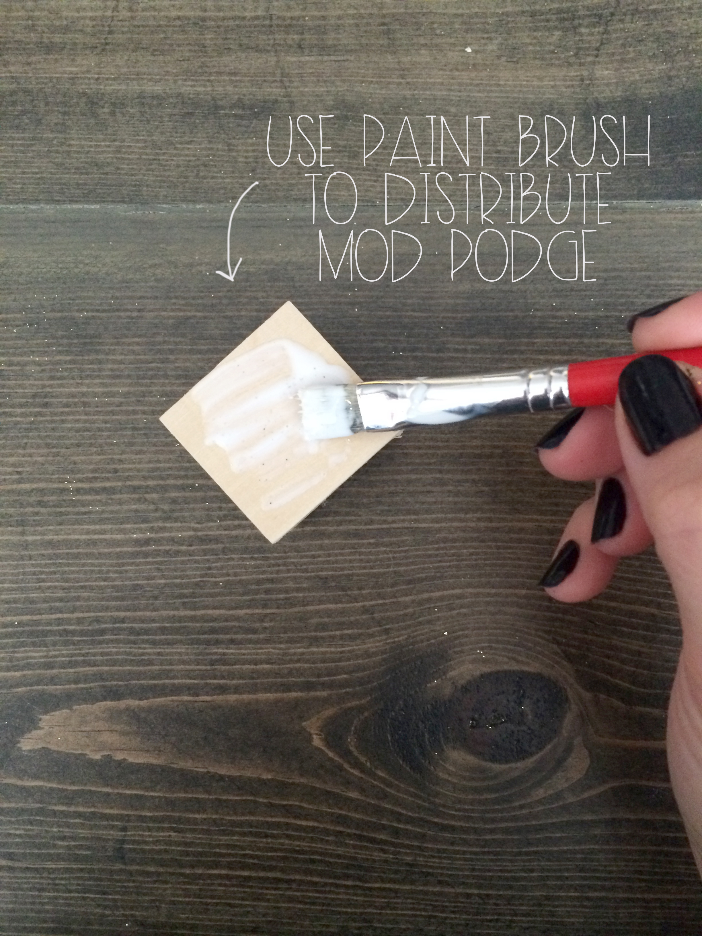 Mod Podge for Glitter Cube Magnet | Red Autumn Co
