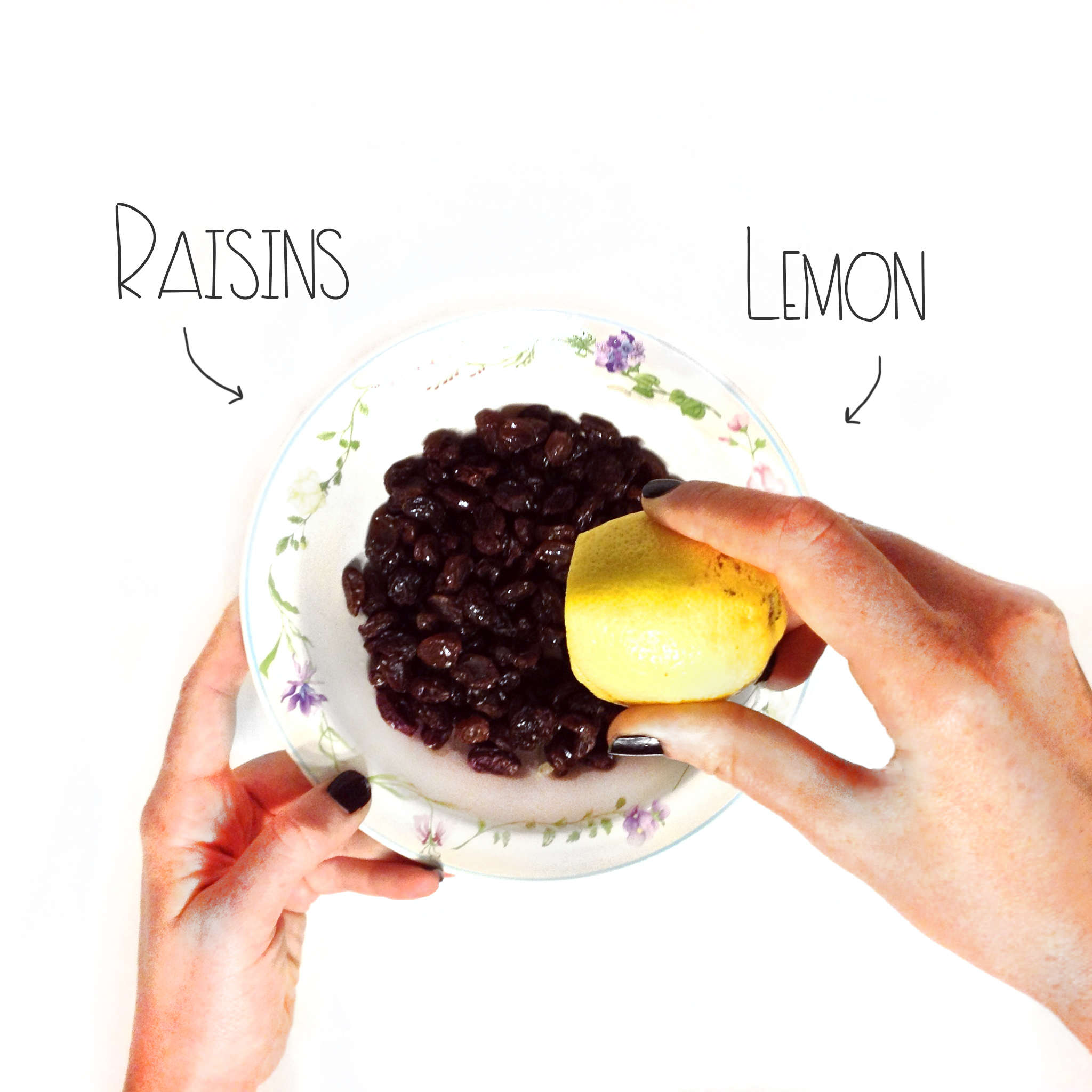 Raisins and Lemon juice | MrsAmberAppleBlog