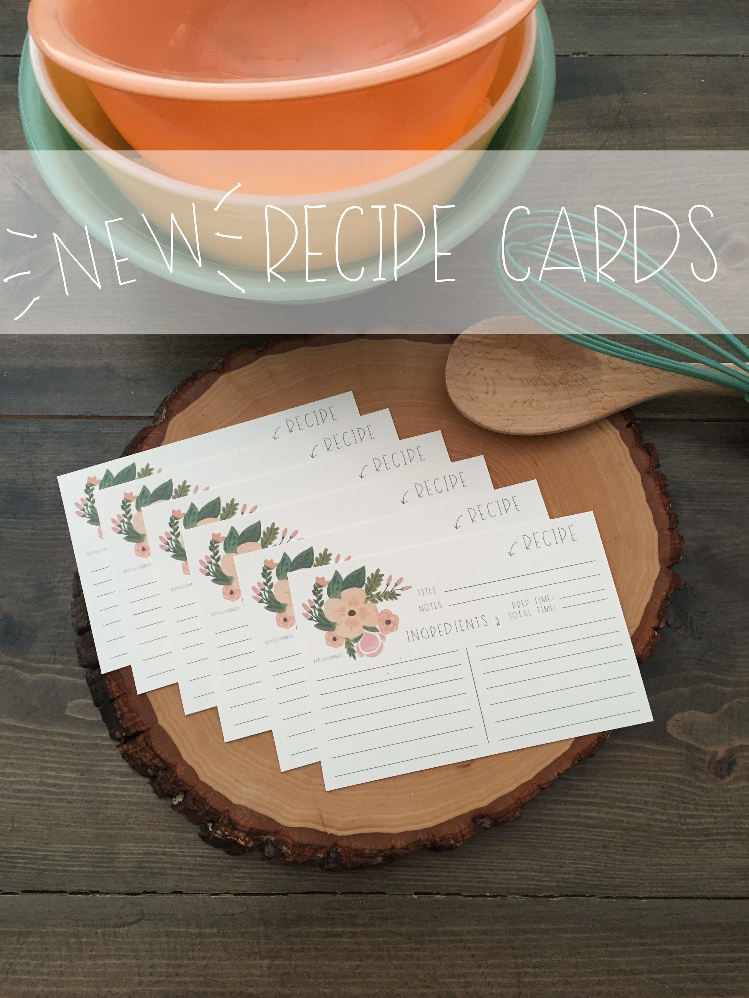 Recipe Cards | Red Autumn Co. copy