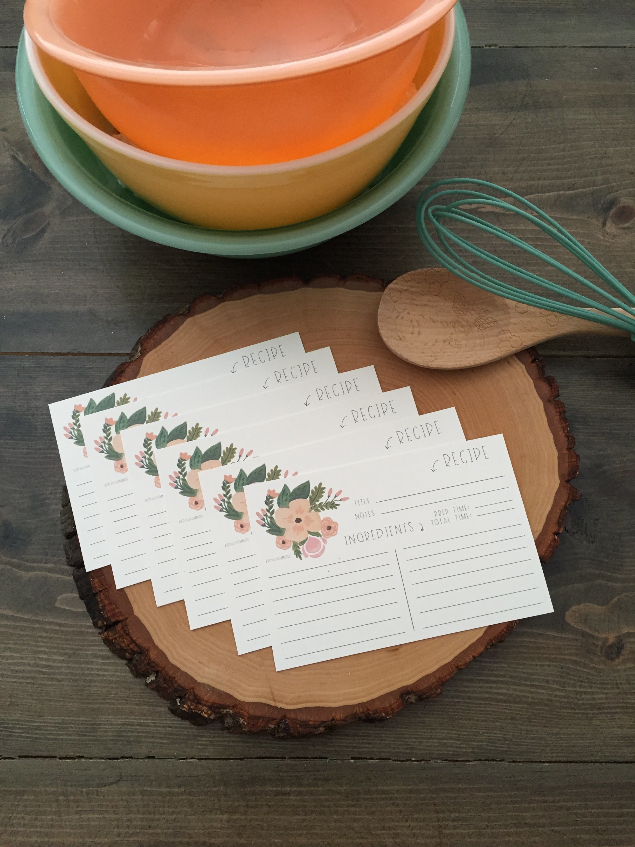 Recipe Cards | Red Autumn Co.
