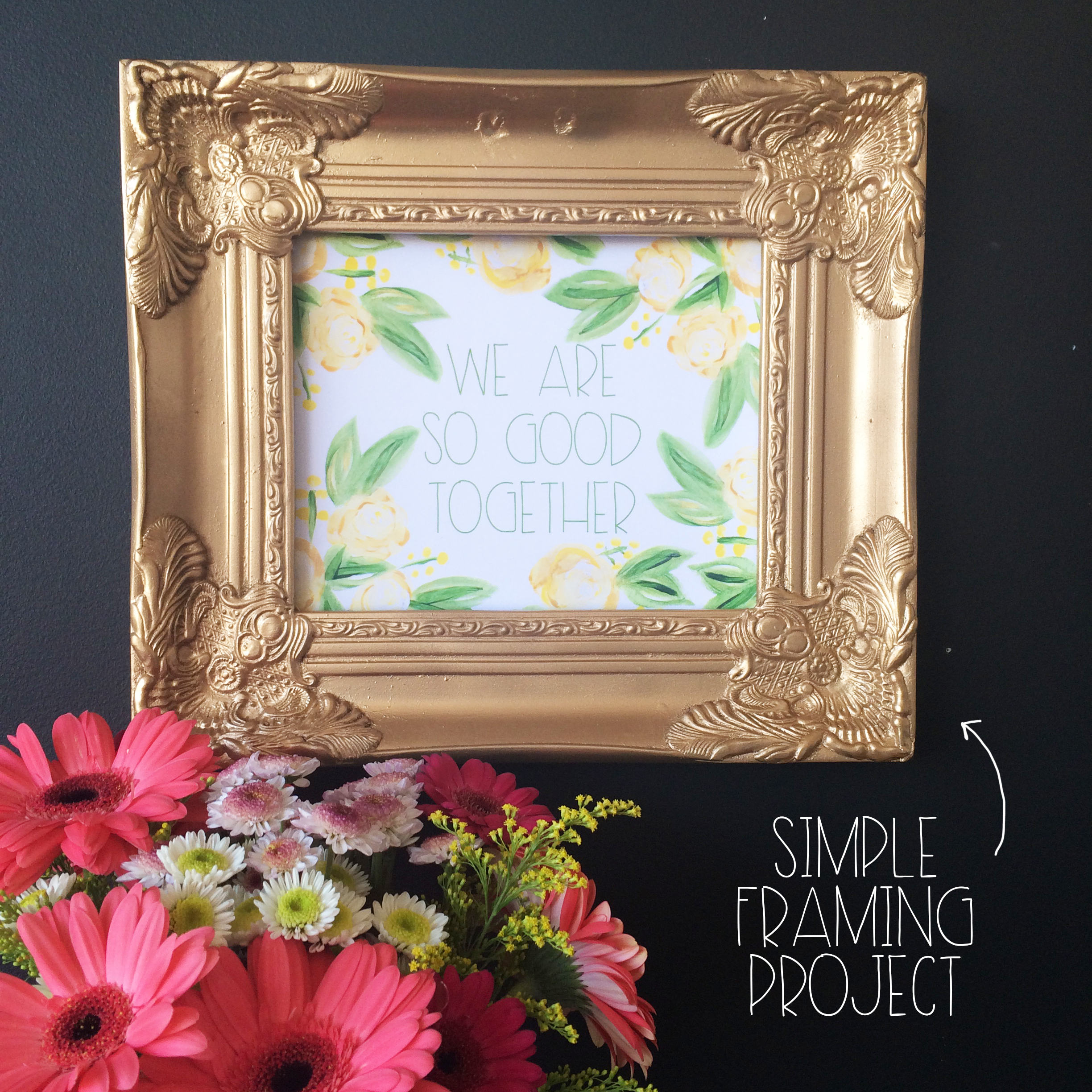 Simple Framing Project | MrsAmberApple
