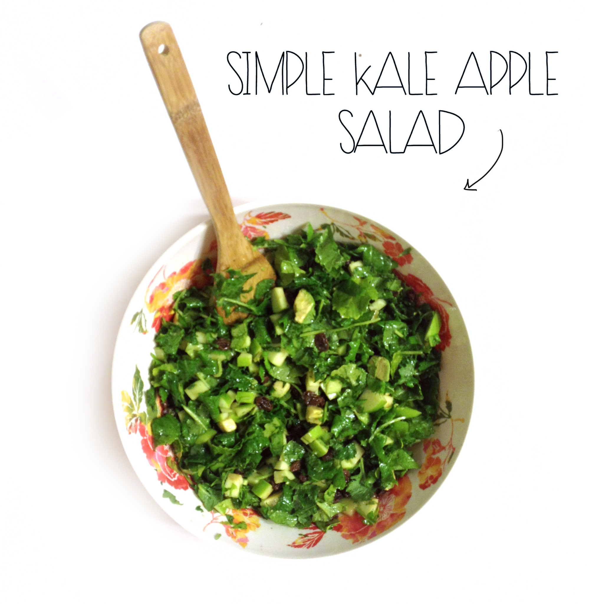 Simple Kale Apple Salad | MrsAmberAppleBlog