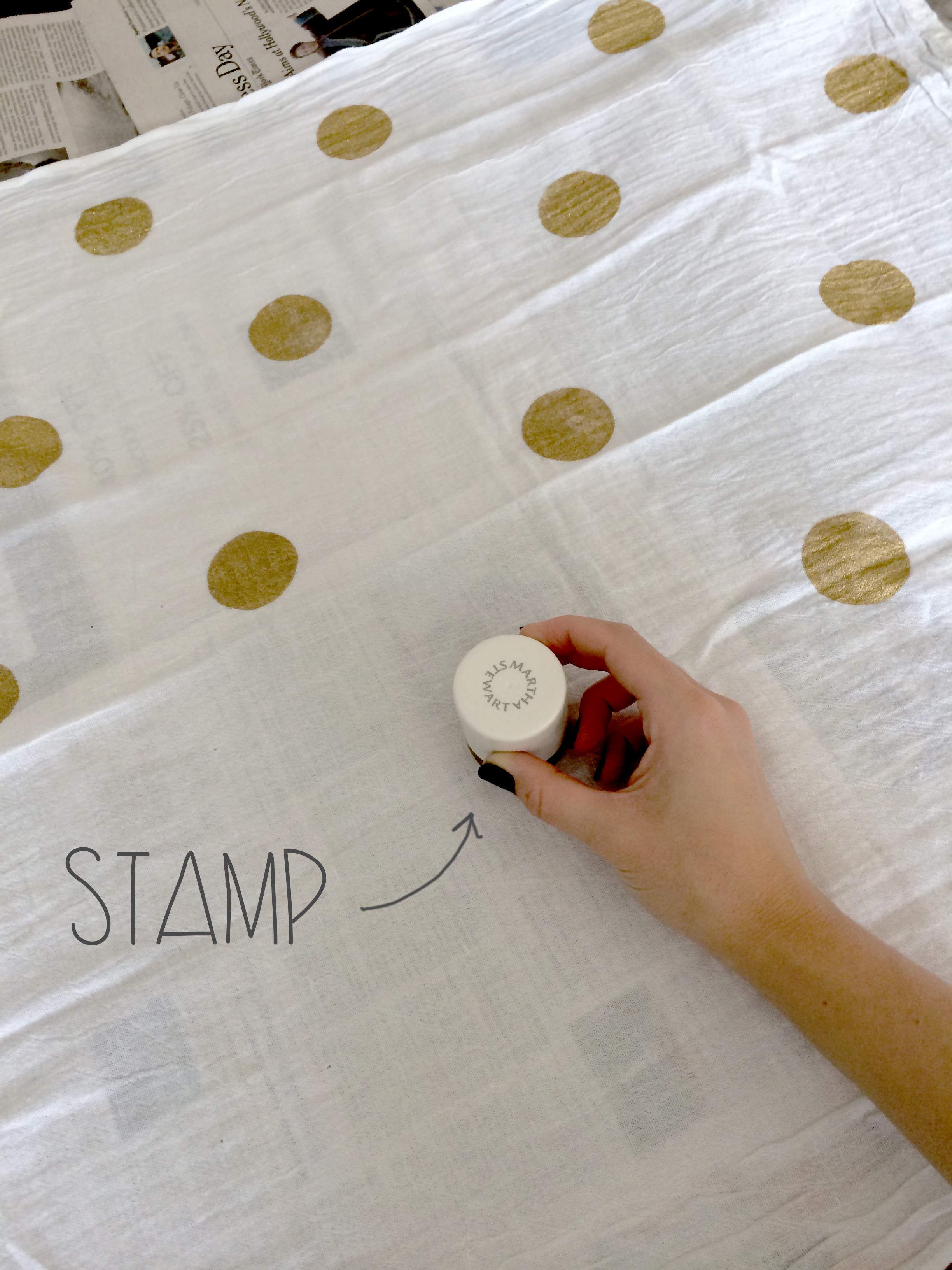 Stamped Dish Towel DIY | Red Autumn Co