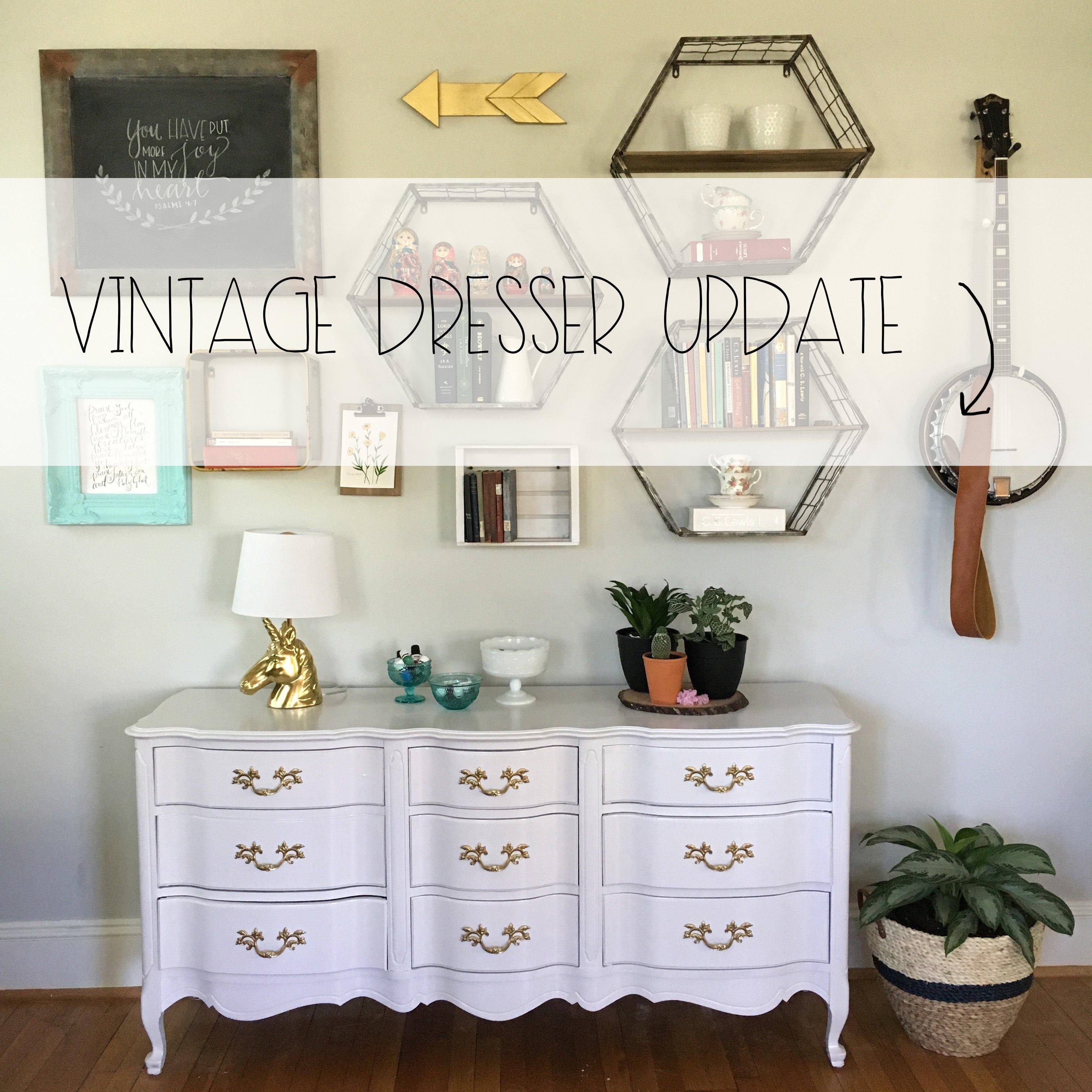 Vintage Dresser Update featured