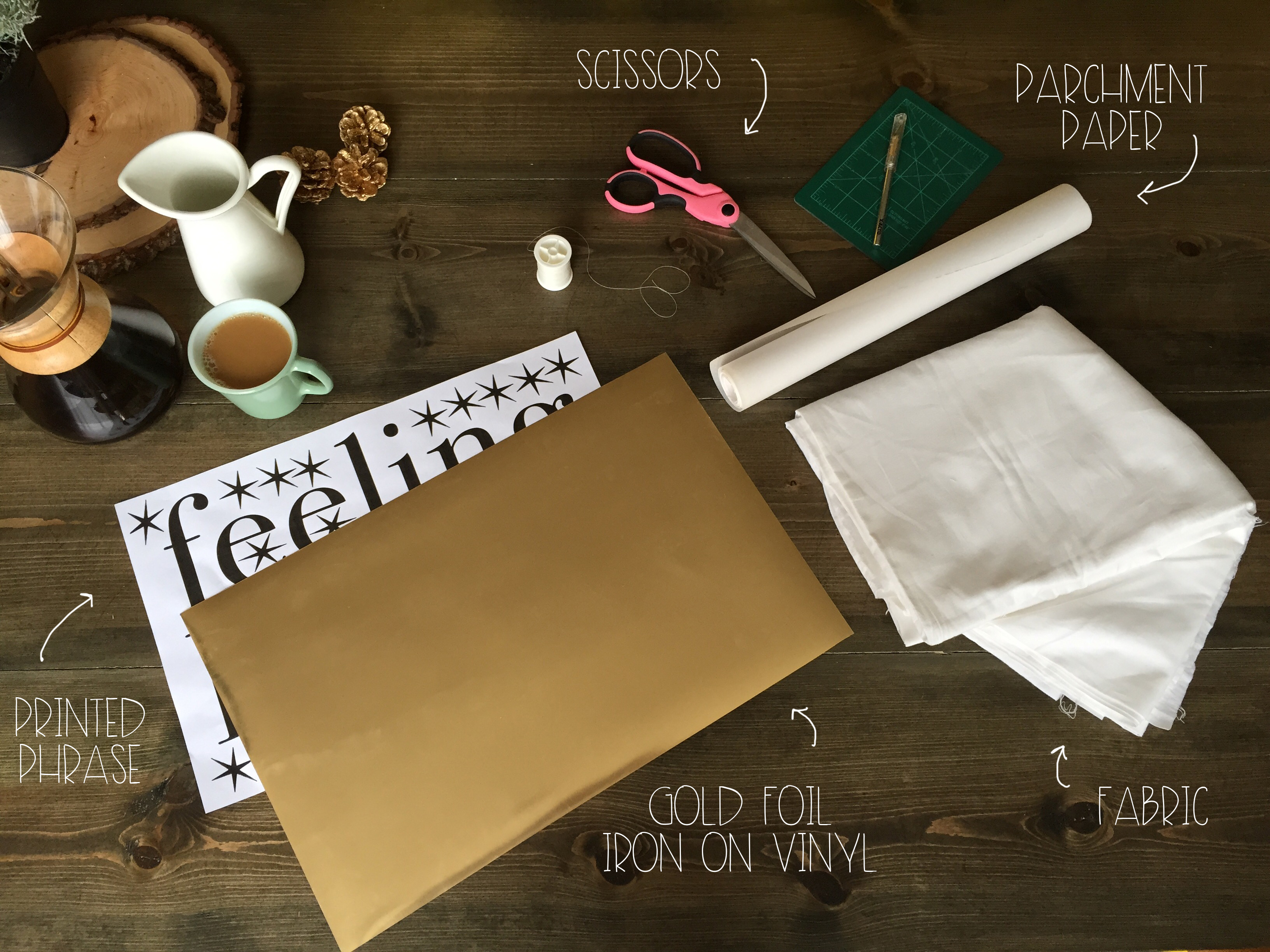 What You Need for Gold Foil Pillow DIY | Red Autumn Co
