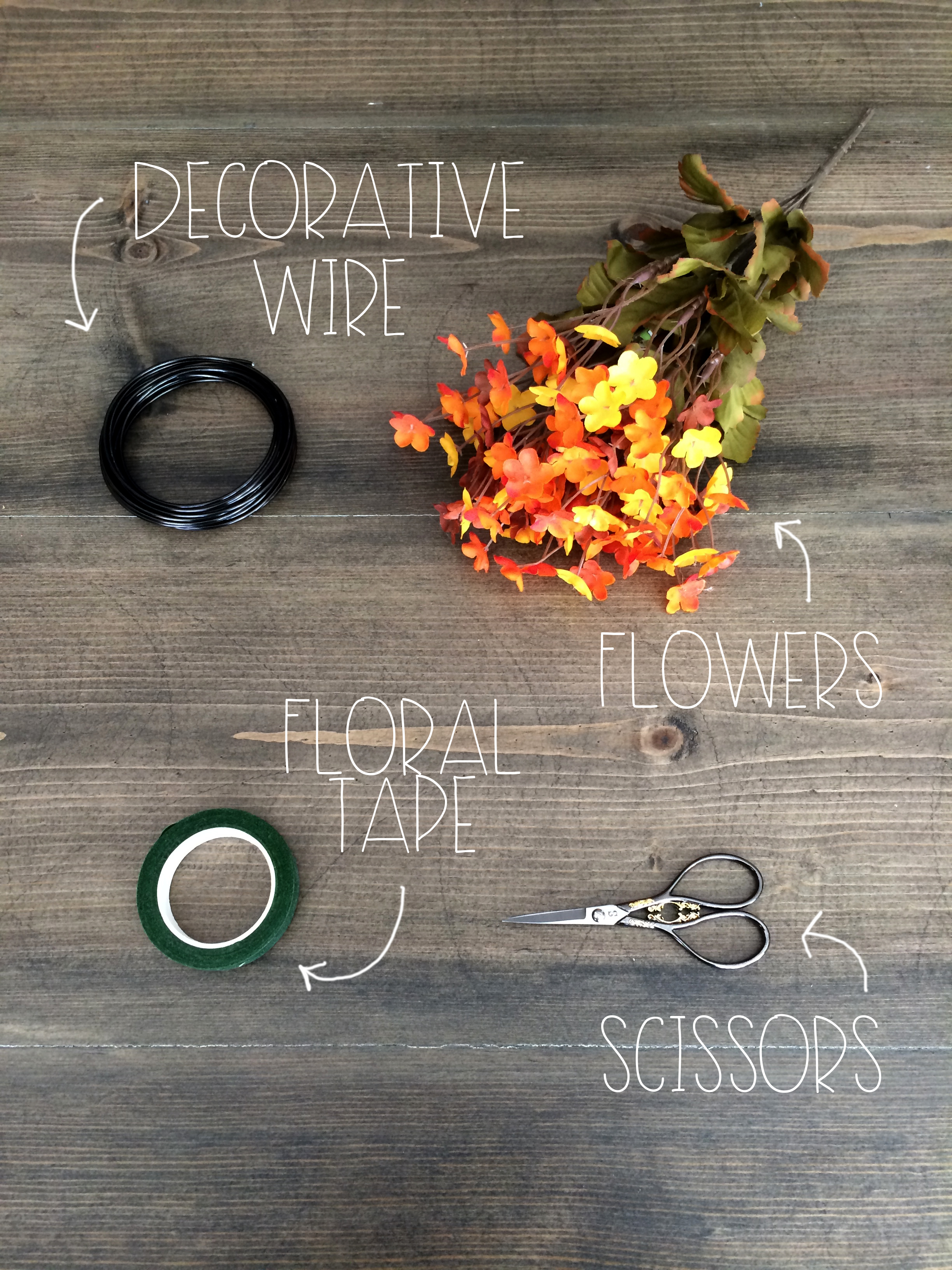 What You Need for an Autumn Flower Crown | Red Autumn Co