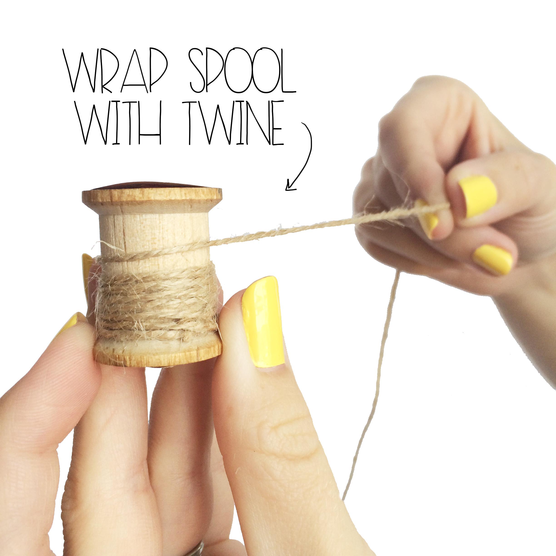 Wrap Wooden Spool | MrsAmberAppleBlog