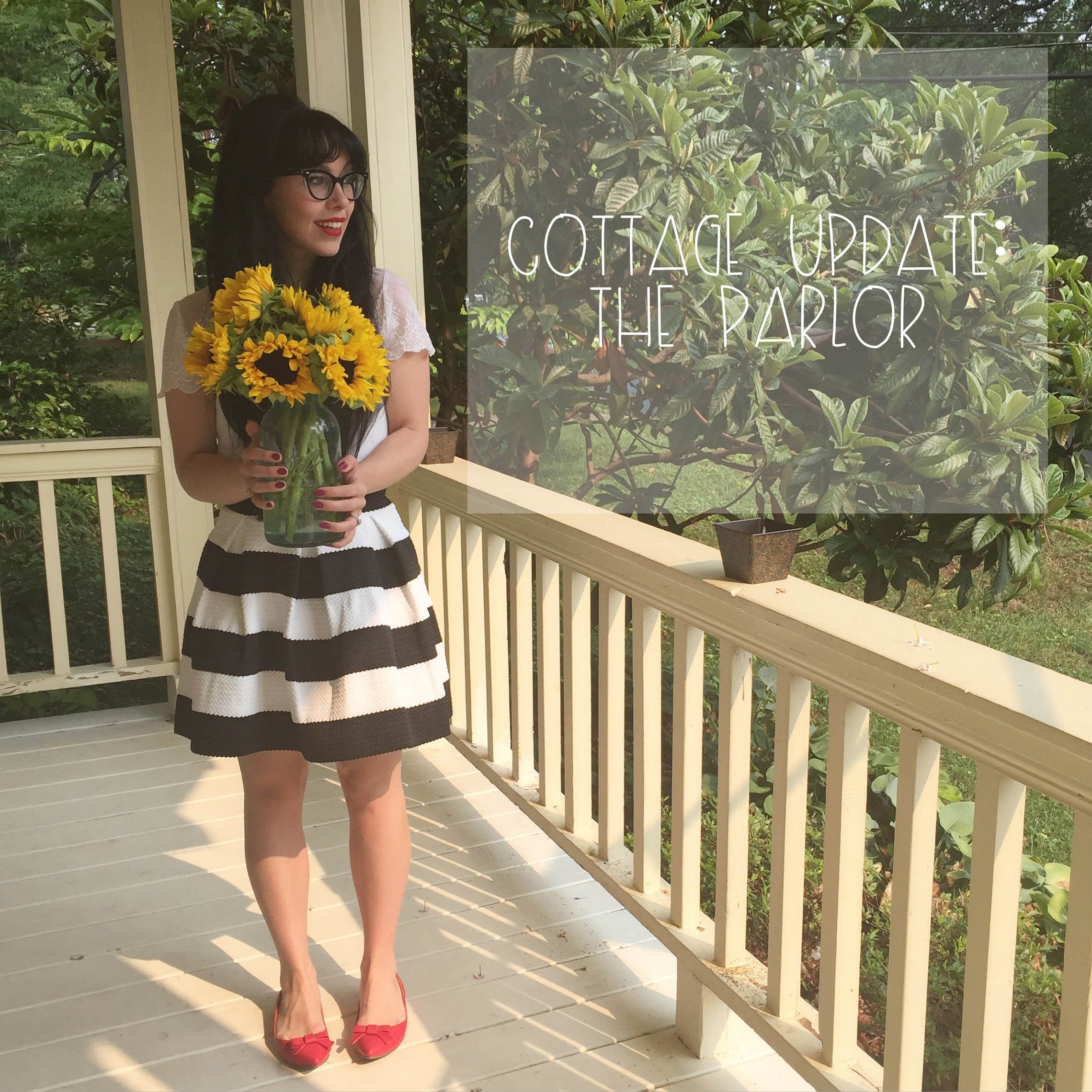 cottage update the parlor | Red Autumn Co
