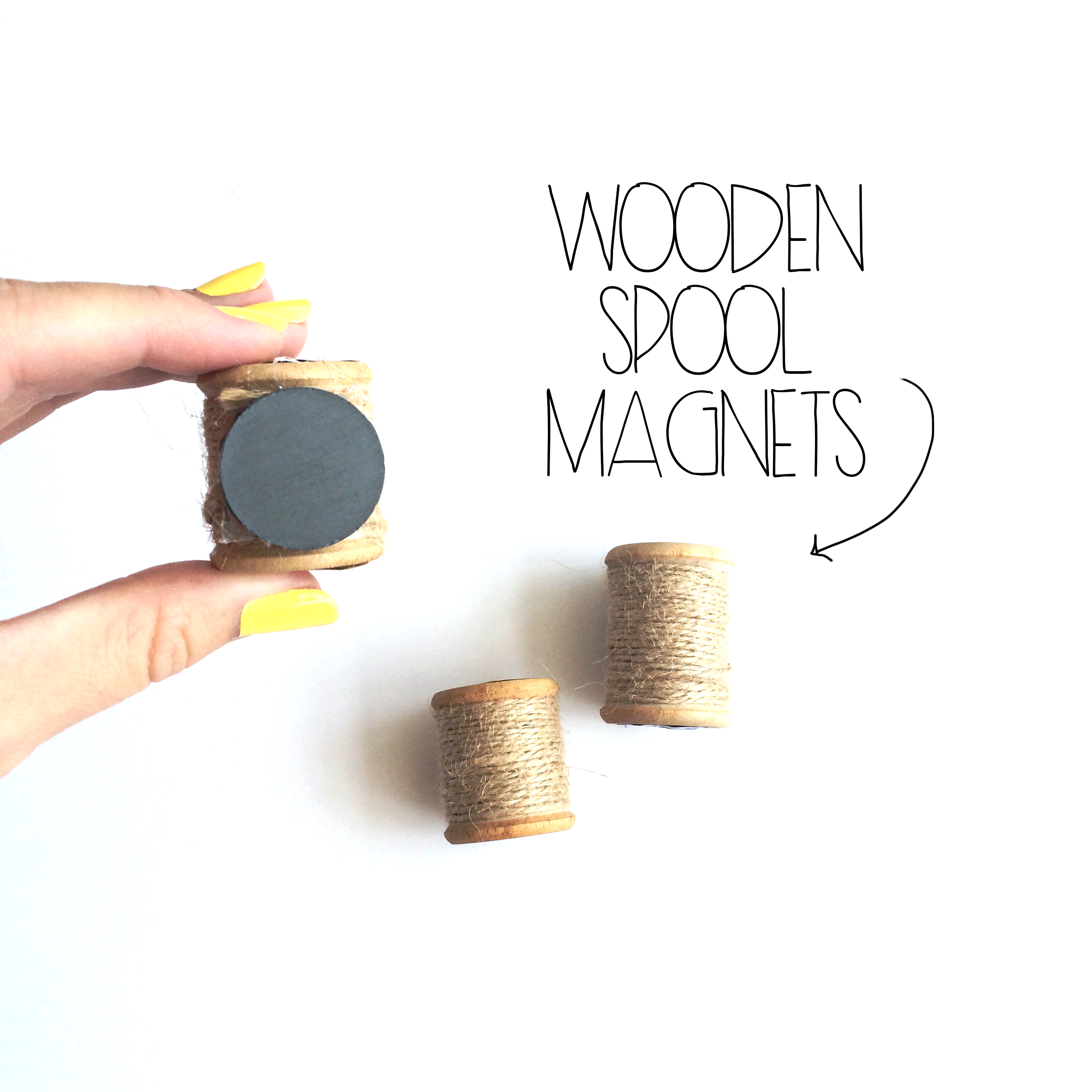 Wooden Spool Magnets
